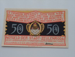 50 Pfennig Stadt ZEULENRODA Anno 1921 ( 5 Stuck ) ( For Grade, Please See Photo ) ! - [11] Emissions Locales