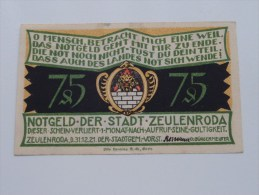 75 Pfennig Stadt ZEULENRODA Anno 1921 ( 5 Stuck ) ( For Grade, Please See Photo ) ! - [11] Emisiones Locales