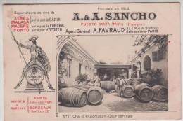 Espagne - Puerto Santa Maria - A & A. Sancho - Exportateur De Vins De Xéres, Malaga, Madère; Porto - Cádiz