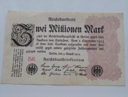 Zwei Millionen Mark BK Berlin 1923 ( For Grade, Please See Photo ) ! - [ 3] 1918-1933 : Repubblica  Di Weimar