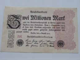 Zwei Millionen Mark BK Berlin 1923 ( For Grade, Please See Photo ) ! - [ 3] 1918-1933 : République De Weimar
