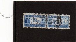 B - 1957 Italia - Cavallino Fil. Stelle - Postpaketten