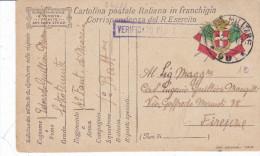 CARD  FRANCHIGIA MILITARE POSTA MILITARE 90  2.4.18  4° FANTERIA DI MARCIA +CENSURA  -FP-V-2-0882-24288 - Weltkrieg 1914-18