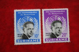 Hammerskjold NVPH 376-377 Mi 413-414 B Tanding 12 1/2 1962 POSTFRIS / MNH ** SURINAME / SURINAM - Surinam ... - 1975