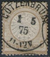 Götzenbrück Goetzenbruck 1/5 75 Auf 5 Groschen Ockerbraun - DR Nr. 22 - Kabinett - Allemagne