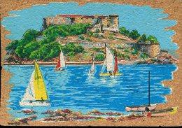 83 - Peinture Sur Liège Inaltérable - Bormes : Fort De Brégançon - Postcards