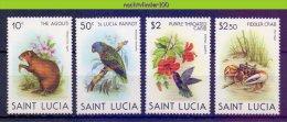 Naa2091 FAUNA VOGELS KRAB AGOUTI CRAB PARROT HUMMINGBIRD BIRDS VÖGEL AVES OISEAUX ST. LUCIA 1981 PF/MNH - Stamps