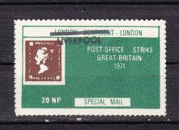 GREAT BRITAIN STRIKE 1971 TIMBRE SUR TIMBRE MANCHESTER LONDON - Autres