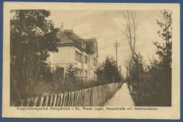 Truppenübungsplatz Königsbrück Kommandantur Neues Lager, Gelaufen 1924 (AK548) - Koenigsbrueck
