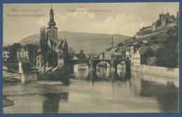 Bad Kreuznach Radium-Solbad Nahebrücke Und Kauzenburg, Ungebraucht (AK602) - Bad Kreuznach