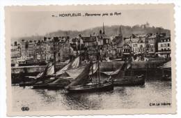 HONFLEUR--Panorama Pris Du Port (bateaux De Pêche),cpsm 14 X 9 N° 71  éd LUGEN Reprise éd ELD CM - Honfleur