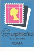 L3115 Roma - Eurphila '83 1983 - VII Salone Internazionale Del Francobollo / Non Viaggiata - Bourses & Salons De Collections