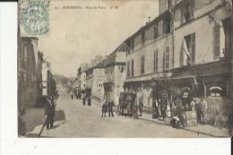 Essonnes  91    La Rue De Paris Tres Tres Animée-Calèche-Café-Epicerie Et Tabac - Essonnes