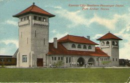 B49 / USA CPA KANSAS CITY PASSENGER DEPOT(GARE) TEXAS TRAIN VOYAGEE VOIR DOS - Kansas City – Kansas