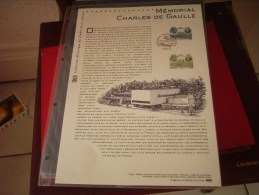 Document  Officiel 2008  Mémorial Charles De Gaulle - Documents De La Poste