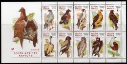 Afrique Du Sud - 1020/29 ** Oiseaux - Rapaces (South African Raptors) - Unused Stamps