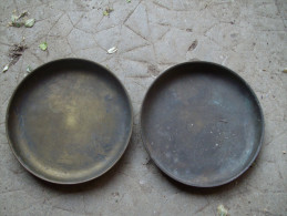 2 PLATEAU EN CUIVRE POUR BALANCE OU TREBUCHET 12 Cm - Cuivres