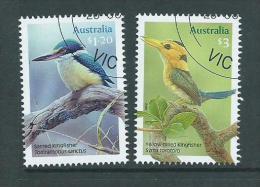 Australia 2010 Kingfisher Bird $1.2 & $3 Values VFU Melbourne CTO - Used Stamps