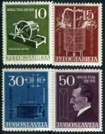 YOUGOSLAVIE 693/696** Centenaire De La Naissance Du Physicien Nikola Tesla - 1945-1992 République Fédérative Populaire De Yougoslavie