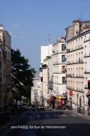 PARIS XX (75)- Rue De Ménilmontant  (EDITION à TIRAGE LIMITE) - Arrondissement: 20