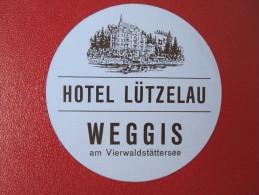HOTEL MISC LUTZELAU WEGGIS GASTHOF KUR DEUTSCHLAND GERMANY DECAL STICKER LUGGAGE LABEL ETIQUETTE KOFFERAUFKLEBER - Etiquetas De Hotel