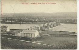 Port Mort  Le Barrage Et Vue De ND Dela Garenne  (370) - Les Andelys