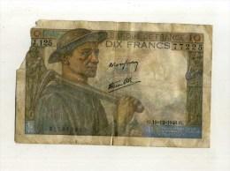 - FRANCE 1941/49  . BILLET 10 F. MINEUR . - 1871-1952 Frühe Francs Des 20. Jh.