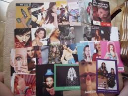 """LOT DE 25 CARTES ...""""FEMMES""""....VISAGES ..PUBLICITES - Cartoline"""