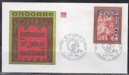 = Retable De La Chapelle De Saint Jean De Caselles Andorre La Vieille 18.10.69 Enveloppe 1er Jour N°198 - FDC
