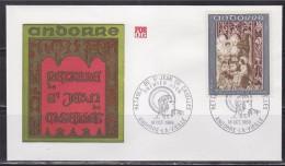 = Retable De La Chapelle De Saint Jean De Caselles Andorre La Vieille 18.10.69 Enveloppe 1er Jour N°199 - FDC