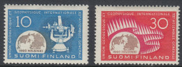 Finland 1960 Geodetical-geophyscial Union. Mi 522-523 MNH - Finlande
