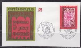 = Retable De La Chapelle De Saint Jean De Caselles Andorre La Vieille 18.10.69 Enveloppe 1er Jour N°200 - FDC