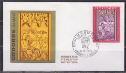 = Retable De La Chapelle De Saint Jean De Caselles, Andorre La Vieille 24.10.70 Enveloppe 1er Jour Timbre N°206 - FDC