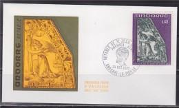 = Retable De La Chapelle De Saint Jean De Caselles, Andorre La Vieille 24.10.70 Enveloppe 1er Jour Timbre N°207 - FDC