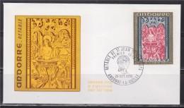 = Retable De La Chapelle De Saint Jean De Caselles, Andorre La Vieille 24.10.70 Enveloppe 1er Jour Timbre N°208 - FDC