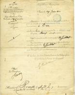 Ministère Des Postes Et Des Télégraphes,1900  Eu, Nomination Surnuméraire, Cachet Postal, Frais De Route, Roux Toulouse