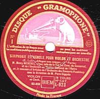 """78 Trs  30 Cm - état TB -  SYMPHONIE ESPAGNOLE POUR VIOLON ET ORCHESTRE (E.Lalo """"ALllegro Non Troppo""""  1re Et 2e Parties - 78 Rpm - Schellackplatten"""