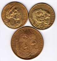 Lot De 3 Médailles Italiennes : Personnages Célèbres Étrangères - Other