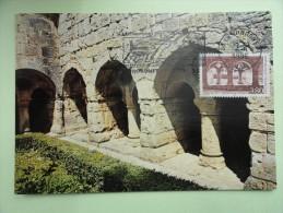 CARTE MAXIMUM CARD ABBAYE DU THORONET VAR AVEC FLAMME  FRANCE - Abbeys & Monasteries