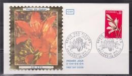 = Flore, Fleurs Des Champs Des Vallées, Le Lys, Andorre La Vieille 7.7.73 Enveloppe 1er Jour Timbre N°229 - FDC