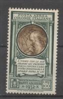 Regno Colonie Emissioni Generali 1933 - Pro Società Dante Alighieri Posta Aerea MH * - Emissioni Generali