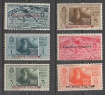 Regno Colonie Emissioni Generali 1933 - Pro Società Dante Alighieri Posta Aerea MH * Con Difetti - Emissioni Generali