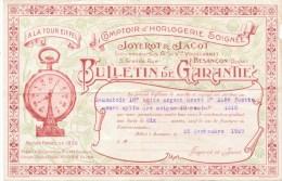 Besançon (25) A La Tour Eiffel Comptoir D´horlogerie Soignée , Joyerot & Jacot - 1900 – 1949