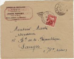 HAUTE MARNE - Poulangy - Devant D´enveloppe  - CAD -TypeB3+Taxée- 1944 - Marcophilie (Lettres)