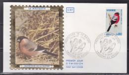 = Protection De La Nature, Le Bouvreuil, Faune, Oiseaux, Andorre La Vieille 21.9.74 Enveloppe 1er Jour Timbre N°241 - FDC