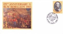 AUSTRALIA 1983 175th Anniversary Rum Rebellion FDC Postal Stationery Cover #1652 - Postal Stationery