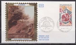 = Centenaire De L'Union Postale Universelle, Andorre La Vieille 5.10.74 Enveloppe 1er Jour Timbre N°242 - UPU - FDC