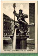 Gleiwitz Os, Neptunbrunnen Am RathausFOTO; Maße  : 10,7 X7,5  CmFoto-Reinisch, Viernheim/Hessen Zustand: Sehr Gut - Schlesien