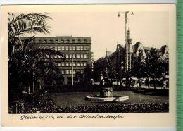 Gleiwitz Os, An Der WilhelmstraßeFOTO; Maße  : 10,7 X7,5  CmFoto-Reinisch, Viernheim/Hessen Zustand: Sehr Gut - Schlesien