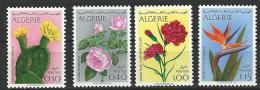 """Algerie YT 568 à 571 """" Fleurs """" 1973 Neuf** - Algérie (1962-...)"""